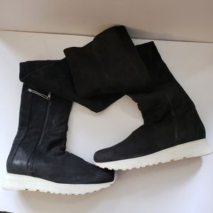LD Tuttle Thigh High Black Suede Sneaker Boots NWT